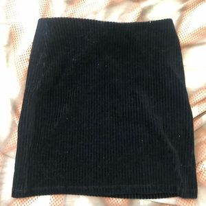 Urban Outfitters Black Corduroy Stretch Mini Skirt